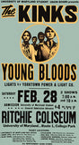 The Kinks - Young Bloods - 1970 - Concert Poster