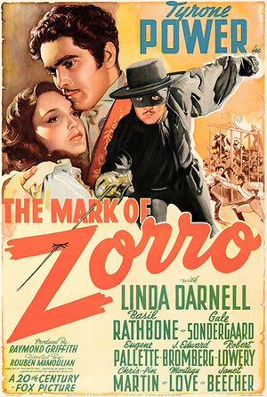 The Mark Of Zorro - 1940 - Movie Poster