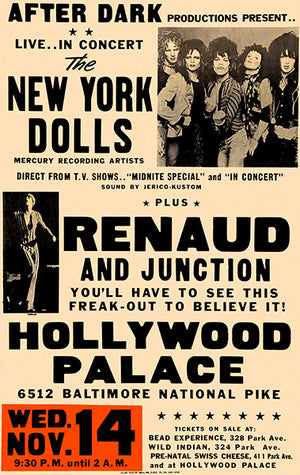 The New York Dolls - 1973 - Hollywood Palace - Concert Poster