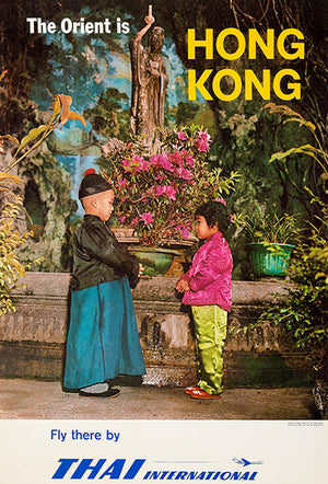 The Orient Is Hong Kong - Thai International - 1962 - Travel Poster