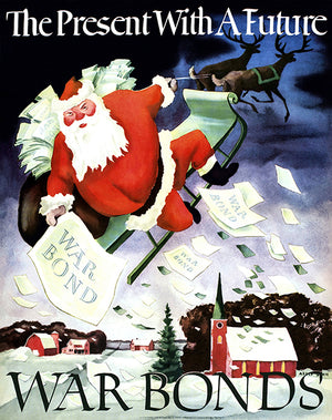 The Present With A Future - Santa War Bonds - 1942 - World War II - Propaganda Mug
