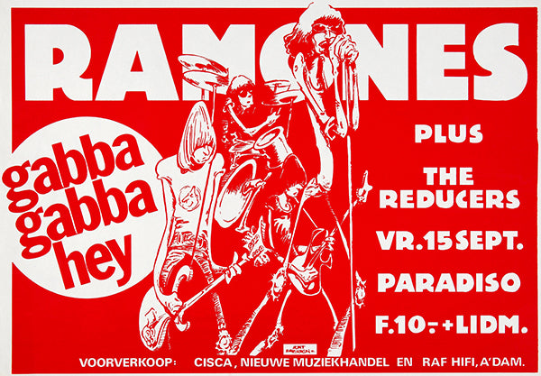 The Ramones - 1978 - Paradiso Amsterdam - Concert Poster