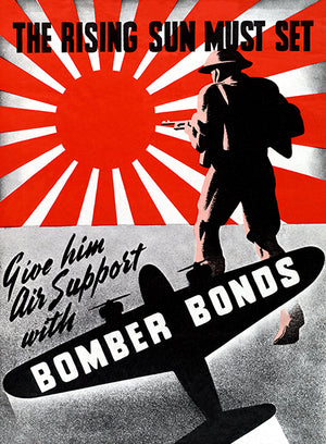 The Rising Sun Must Set - Bomber Bonds - 1940's - World War II - Propaganda Mug