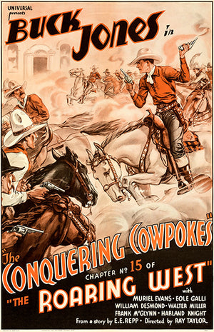 The Roaring West - The Conquering Cowpokes - 1935 - Movie Poster
