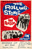 The Rolling Stones - 1964 - Dayton OH - Concert Poster