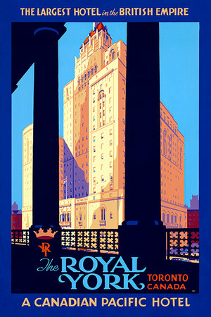 The Royal York - Toronto Canada - 1940's - Travel Poster