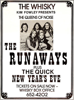 The Runaways - Whisky-A-Go-Go - 1976 - Concert Poster