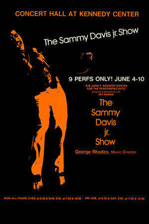 The Sammy Davis Jr Show - 1973 - Washington DC - Concert Poster
