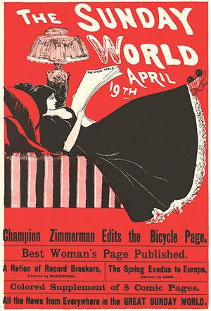 The Sunday World - April 19th - 1896 - Pop Art Poster
