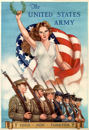 The United States Army - Then Now Forever - 1945 - World War II – Propaganda Magnet