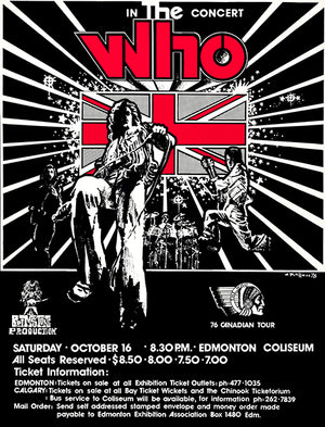 The Who - 1976 - Edmonton - Concert Poster