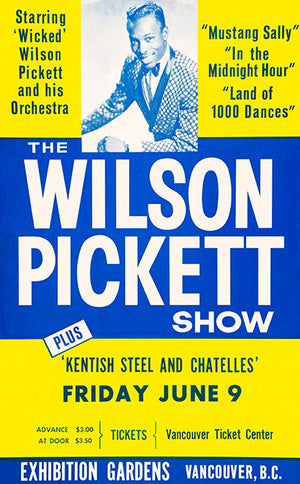 The Wilson Pickett Show - 1967 - Vancouver BC - Concert Poster