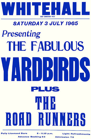 The Yardbirds - The Road Runners - 1965 - UK - Concert Poster