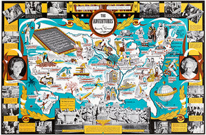 The Adventures Of Mark Twain - 1944 - United States Pictorial Map Poster