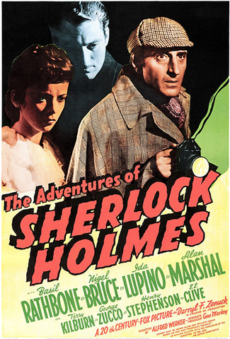 The Adventures Of Sherlock Holmes - 1939 - Movie Poster