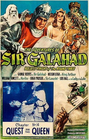 The Adventures Of Sir Galahad - 1949 - Movie Poster Magnet