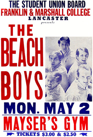 The Beach Boys - Lancaster PA - 1966 - Concert Poster