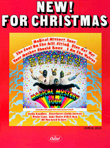 The Beatles - Magical Mystery Tour - 1967 - Album Release Promotional Poster