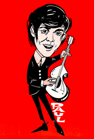 The Beatles - Paul McCartney - 1965 - Promotional Caricature Poster