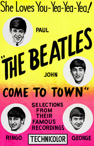 The Beatles Come To Town - 1963 - Short Film - Movie Poster