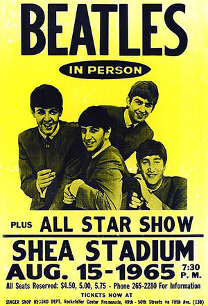 The Beatles - Shea Stadium - 1965 - Concert Poster