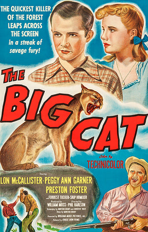 The Big Cat - 1949 - Movie Poster Magnet