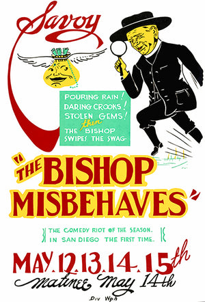 The Bishop Misbehaves - 1938 - Federal Theatre WPA Poster