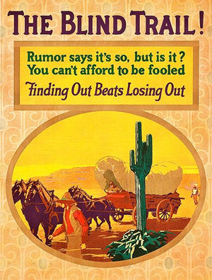 The Blind Trail! - Rumors Fool -  Finding Out - 1926 - Motivational Mug