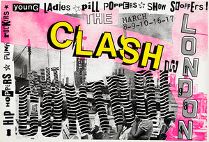 The Clash - Out Of Control - 1984 - London - Concert Poster