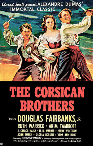 The Corsican Brothers - 1941 - Movie Poster