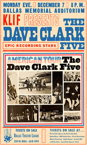 The Dave Clark Five - 1964 - Dallas Memorial Auditorium - Concert Magnet