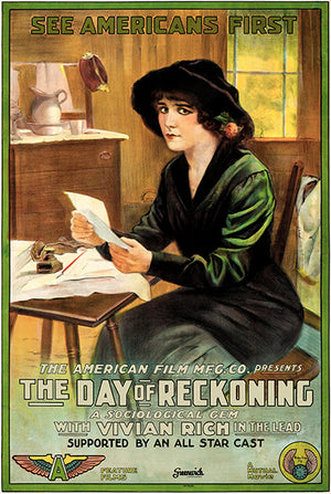 The Day Of Reckoning - 1915 - Movie Poster Magnet