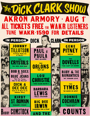 The Dick Clark Show - 1963 - Akron Armory - Concert Poster