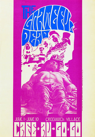 The Grateful Dead -  Cafe Au Go Go - 1967 - Concert Poster