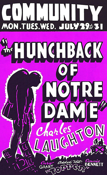 The Hunchback Of Notre Dame - 1939 - Movie Poster