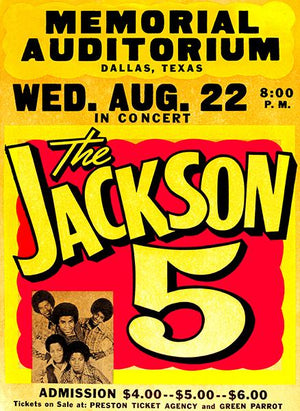 The Jackson 5 - Memorial Auditorium Dallas TX - 1973 - Concert Poster Mug