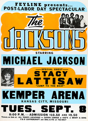 The Jacksons Starring Michael Jackson - 1981 - Kemper Arena - Concert Poster