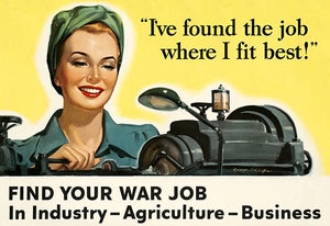 The Job Where I Fit Best! War Job - 1943 - World War II - Propaganda Poster Mug