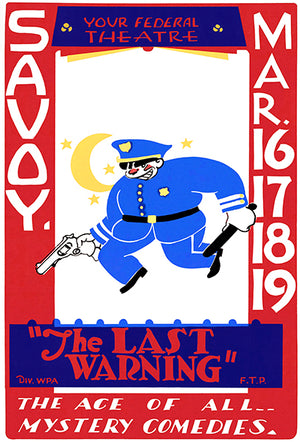 The Last Warning - 1938 - Federal Theatre WPA Mug