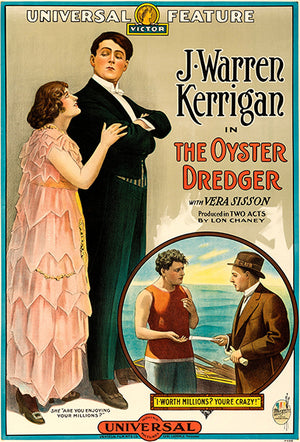 The Oyster Dredger - 1915 - Movie Poster Magnet