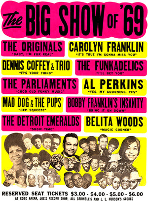 The Parliments - The Funkadelics - Big Show Of 1969 - Concert Poster