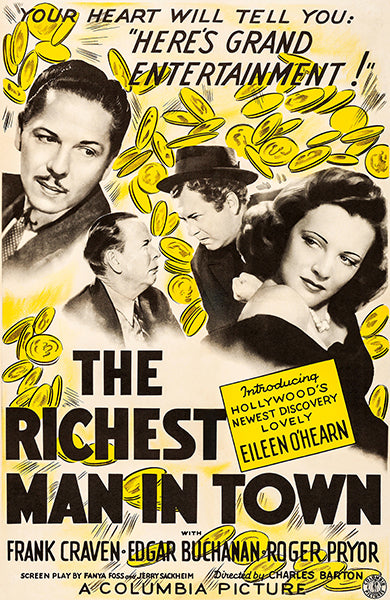 The Richest Man In Town - 1941 - Movie Poster Mug
