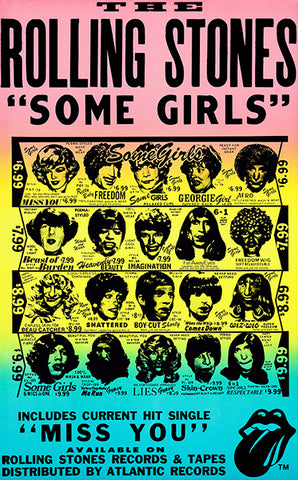 The Rolling Stones - Some Girls - 1978 - Album Release Poster