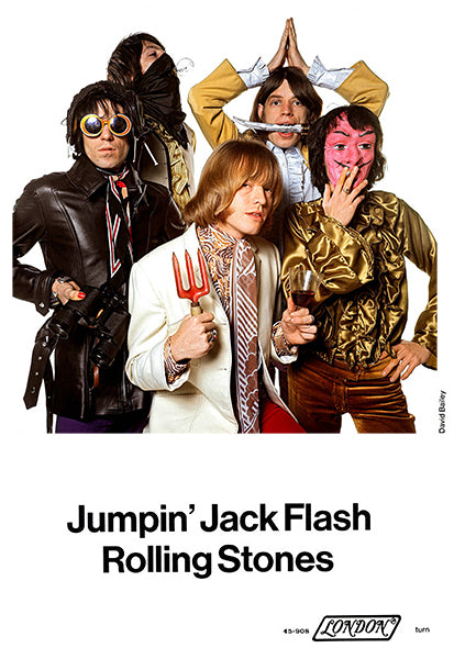 The Rolling Stones - Jumpin' Jack Flash - 1968 - Single Release Promo Poster