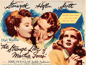 The Strange Love Of Martha Ivers - 1946 - Movie Poster Magnet