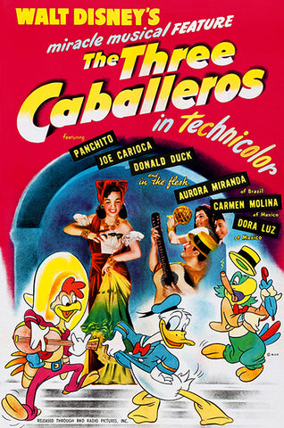 The Three Caballeros - 1945 - Movie Poster