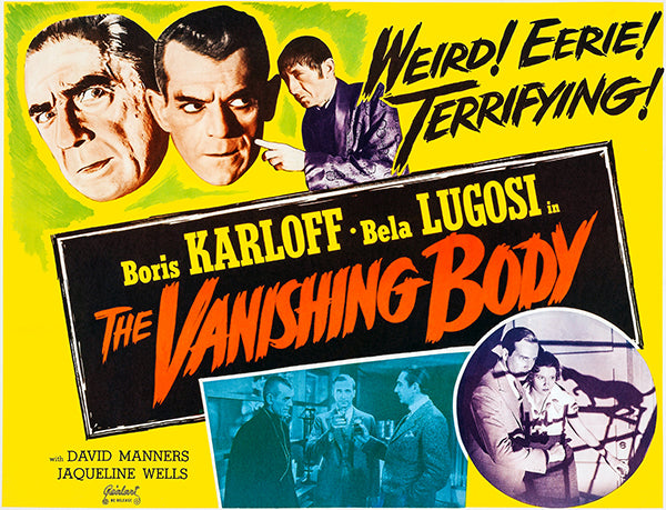 The Vanishing Body - 1953 - Movie Poster