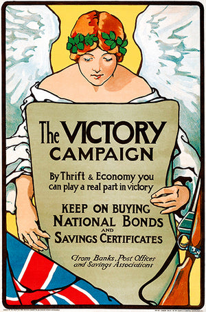 The Victory Campaign - Bonds - 1916 - World War I - Propaganda Magnet