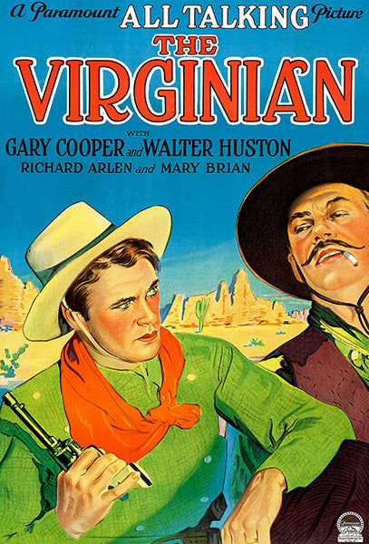 The Virginian - 1929 - Movie Poster