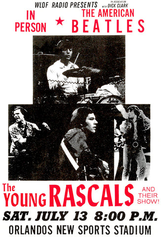 The Young Rascals - Orlando FL - 1968 - Concert Poster